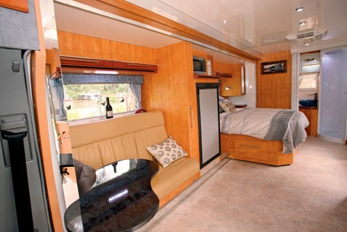 Wirraway Motor Homes 260SL further interior lounge view