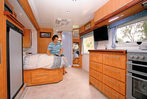 Wirraway Motor Homes 260SL interior kitchen and lounge