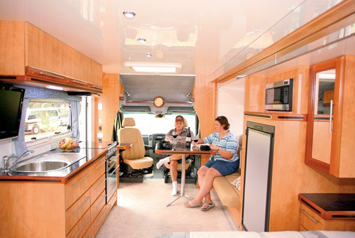 Wirraway Motor Homes 260SL interior view of light