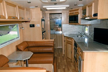 5 star caravans premier mkii full view of lounge