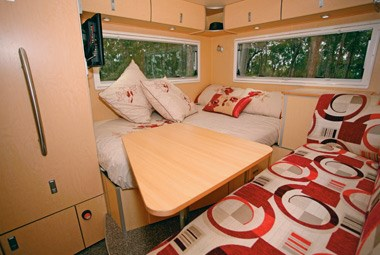 SLR Caravans Adventurer 4X4 motorhome dinette and lounge