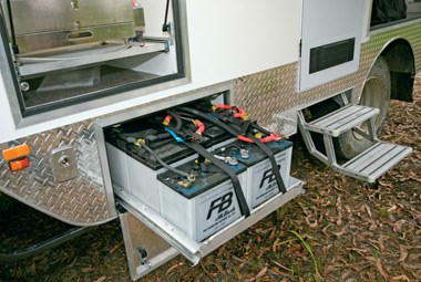 SLR Caravans Adventurer 4X4 motorhome multiple batteries