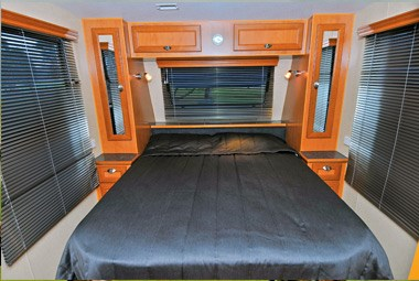 Royal Flair Caravans Family Flair bed interior