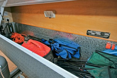 Royal Flair Caravans Family Flair storage