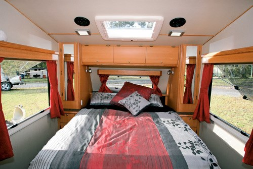 Exclusive Caravans Walk-A-Bout 620ST bed