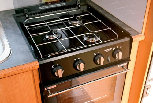 Exclusive Caravans Walk-A-Bout 620ST stove and oven