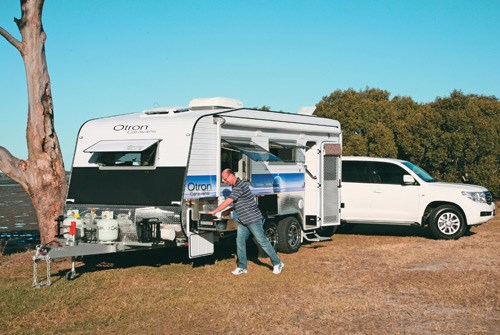 otron caravans signature series 3 at camp site