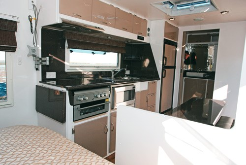 otron caravans signature series 3 interior kitchen and dinette