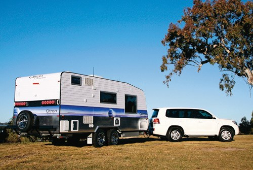 Otron Caravans Signature Series 3 being towed