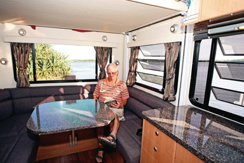 Talvor MacLeayn motorhome lounge and dinette