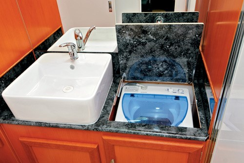 majestic caravans trailblazer bathroom sink and washign machine