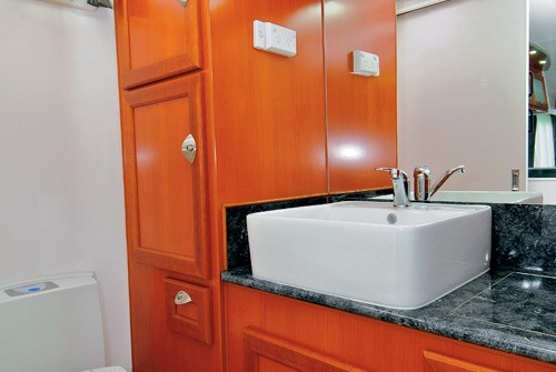 Majestic Caravans Trailblazer bathroom sink