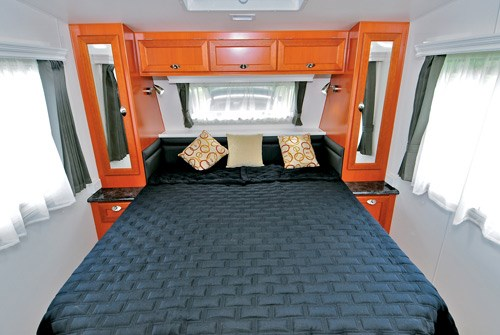 Majestic Caravans Trailblazer bed