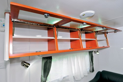 Majestic Caravans Trailblazer interior storage