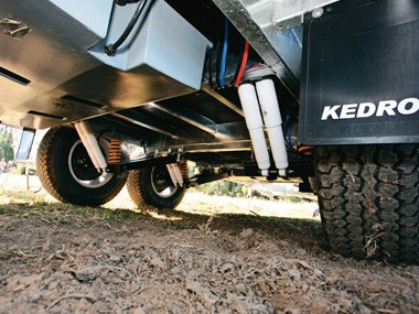 Kedron Caravans Cross Country XC3 suspension