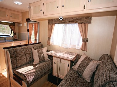 Kedron Caravans Cross Country XC3 lounge and dinette