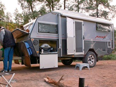 Australian Off Road Campers Matrix set up for camping