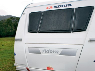 Adria Caravans Adora 612 DP rear view
