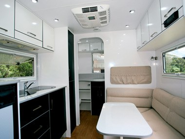 new age caravans bilby interior lounge and dinette