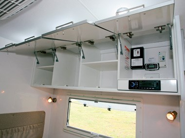 New Age Caravans Bilby kitchen area