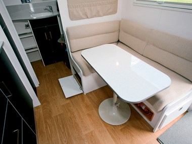 New Age Caravans Bilby dinette and lounge