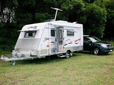 new age caravans bilby exterior on camp site