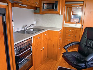 Aussie By Design Humpback Smart Van kitchen and sink