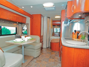 Presidential RV Navigator 24SAU another view of the lounge