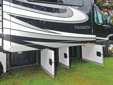 Presidential RV Navigator 24SAU exterior storage compartments