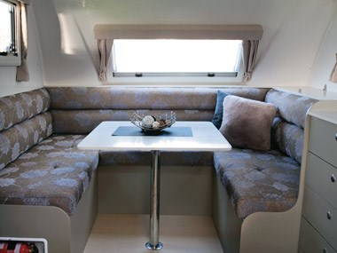 Grandcruiser Caravans 2450 Ritz comfy interior lounge