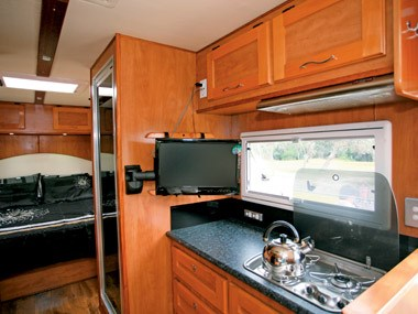 Outback RVs Overlander caravan kitcehn and sink