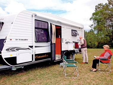 Crusader Caravans Inspiration exterior all open