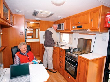 Crusader Caravans Inspiration kitchen area