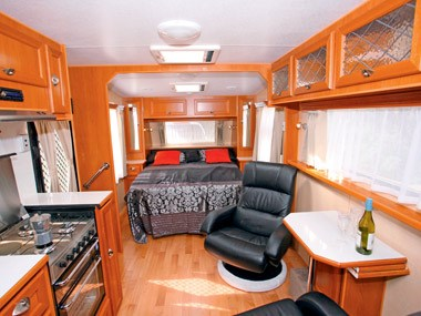 Crusader Caravans Inspiration interior lounge