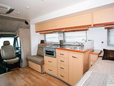 Paradise Motorhomes Inspiration Ultra spacious central inside area