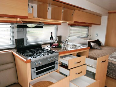 Paradise Motorhomes Inspiration Ultra kitchen and stove