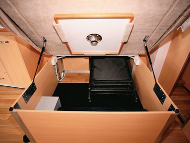 Paradise Motorhomes Inspiration Ultra under bed storage