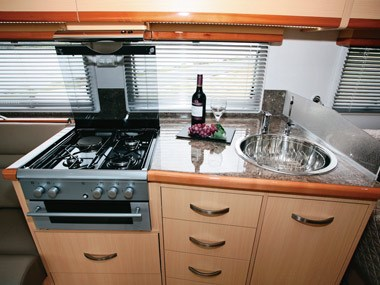 Paradise Motorhomes Inspiration Ultra kitcehn and sink