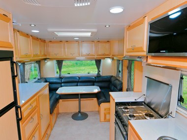 Evernew Caravans E100 spacious interior view