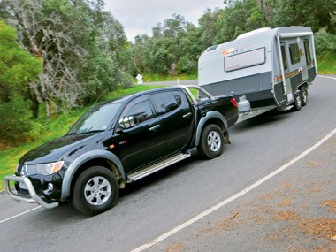 Nova Caravans Terra Sportz being towed