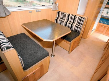 Bushtracker custom offroad caravan dining area