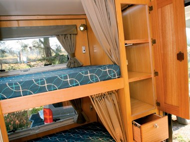 bushtracker custom offroad caravan interior bunk bed