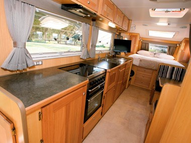 Bushtracker custom offroad caravan interior kitchen