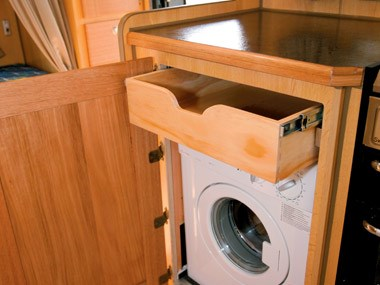 Bushtracker custom offroad caravan interior washing machine