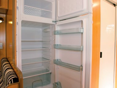 Bushtracker custom offroad caravan interior fridge