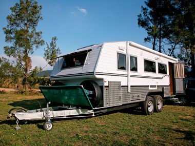 The Bushtracker custom offroad caravan ready for an adventure