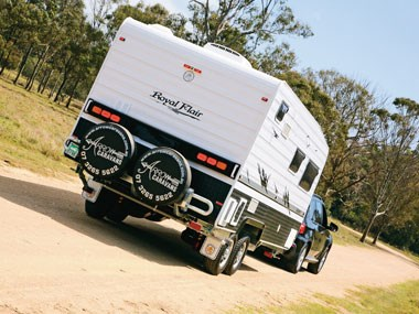 Royal Flair Caravans Aussiemate exterior on the road
