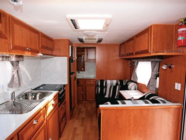 Royal Flair Caravans Aussiemate spacious interior