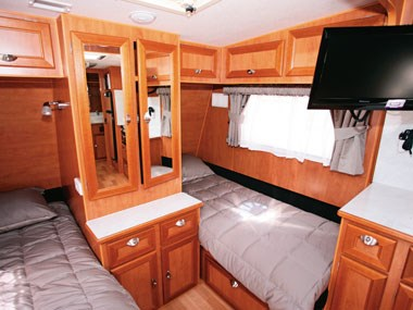 Royal Flair Caravans Aussiemate interior bed
