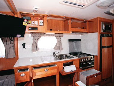 Royal Flair Caravans Aussiemate interior kitchen